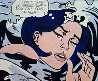 opera di Roy Lichtenstein Drowning Girl (also known as Secret Hearts or I Don't Care! I'd Rather Sink)
