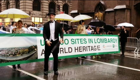 New York, nonostante la pioggia grande Columbus day
