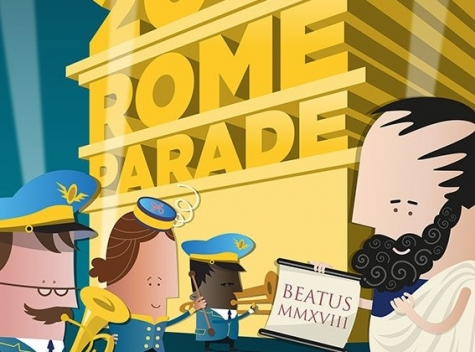 Roma, parata di Capodanno, marching band high school americane